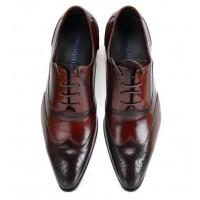 SH021-潮流咖啡色皮鞋
