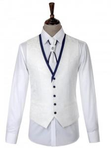 潮流白色男禮服-2