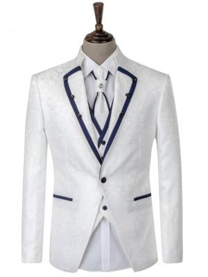 潮流白色男禮服