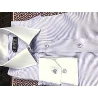 White Collar White Cuff Check Style